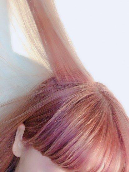 明るい素敵な髪の毛